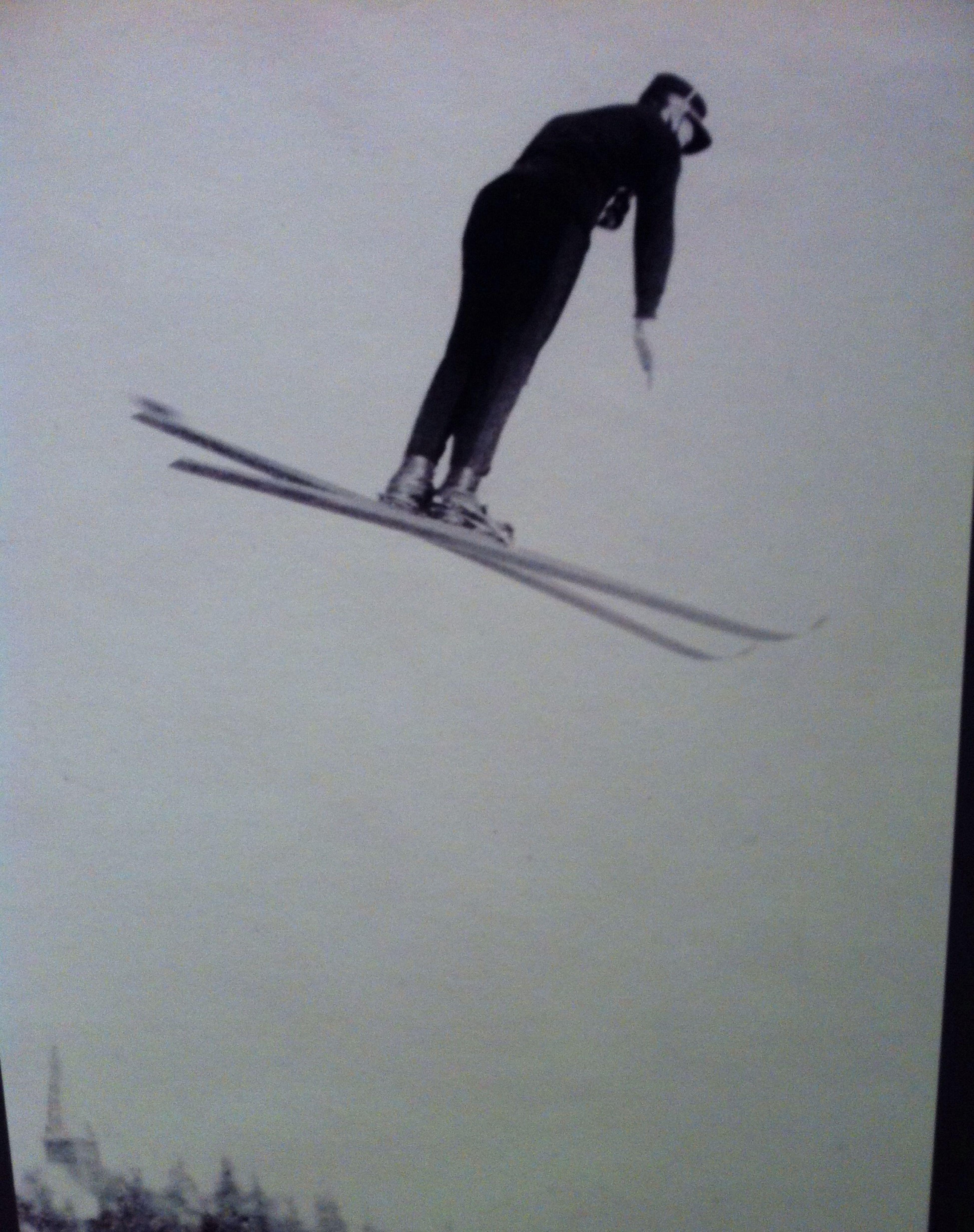 Ski jump at the museum