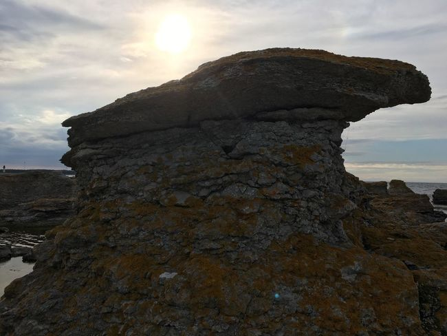 Textured  Sky Cloud - Sky Sun Tranquil Scene Sunset Rough Tranquility Rock - Object Nature Scenics Beauty In Nature Rugged Rock Formation Outdoors Östersjön Baltic Sea EyeEmBestPics Sweden My Photography EyeEm Best Shots Shore Purist No Edit No Filter Rock Formation