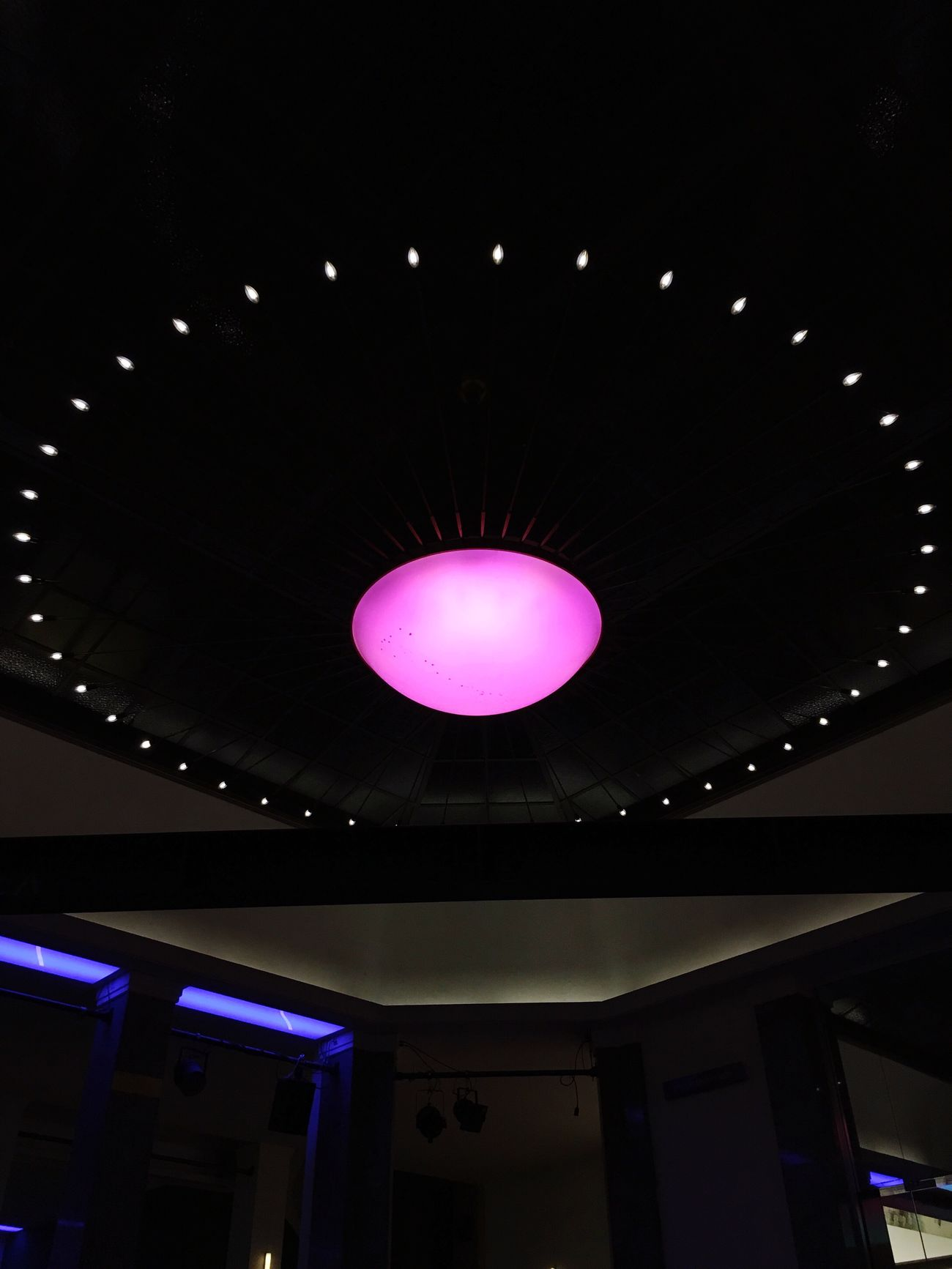 Bar Mitte Lamp Design Pink Circle Dots of Light Taking Photos Evening Night Indoors  Architecture Low Angle View