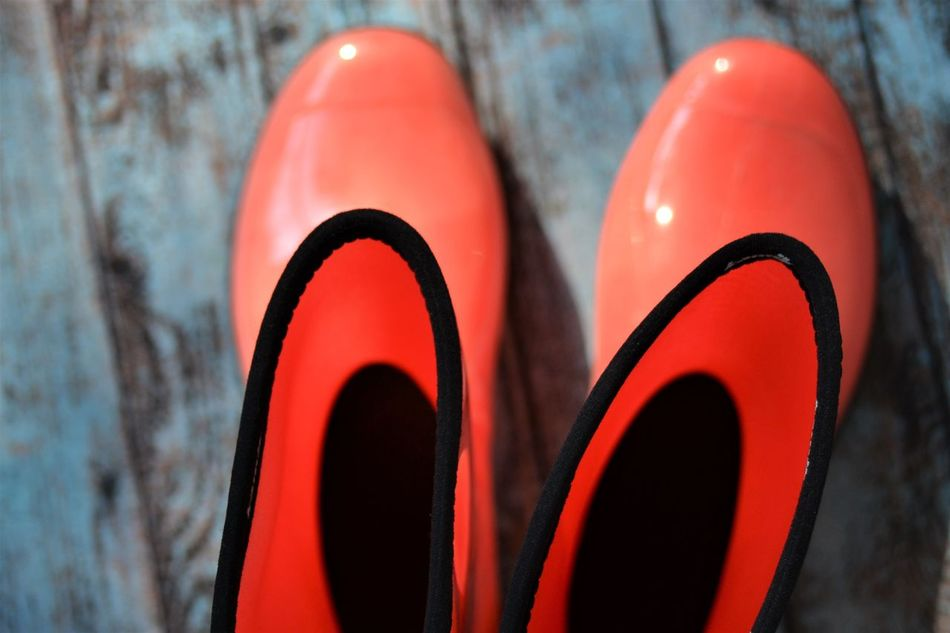 orangish pinkish reddish rain boots, waiting its client and ready to go and enjoy the happy rain Black Lines Blue Blue Background Boot Boots Close-up Day Fashion Floor Funny No People Orange Orangish Outdoor Outdoors Rain Rain Boots Ready To Go Red Rubber Boots Seasons Shoe Style Umbrella Watching Art Is Everywhere