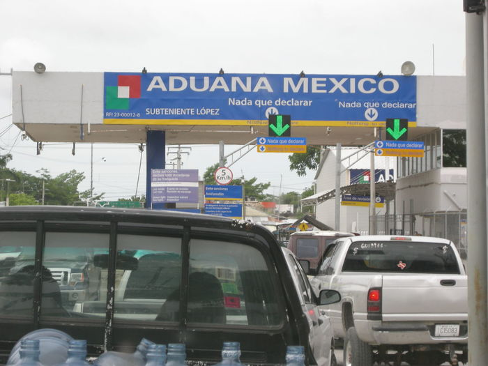 Crossing the Border Border Border Crossing Daily Life Do You Get It ?  Mexico Outside The United States Trucks Water Bottles