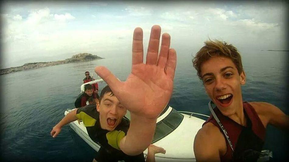 Enjoy the water in Calvi Gopro Wake Boarding