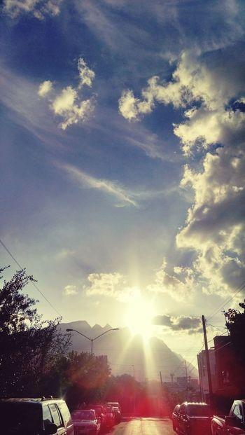 Beautiful sky.. Clouds Sky Landscape Mountain