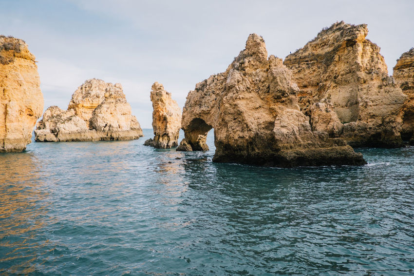 Lagos Algarve Atlantic Atlantic Ocean Lagos Ponta Da Piedade Portugal Praia De Dona Ana Travel Beach Beauty In Nature Day Nature No People Ocean Outdoors Rock - Object Rock Formation Scenics Sea Seaside Sky Tarvel Destination Tranquility Water Waterfront