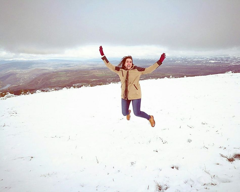 Jumping Snow ❄ Snow Freedom Happiness Cold Temperature RibeiraSacra Sil River EyeEmNewHere Welcome To Black Millennial Pink Long Goodbye Resist EyeEm Diversity The Secret Spaces Art Is Everywhere Break The Mold Break The Mold TCPM Cut And Paste