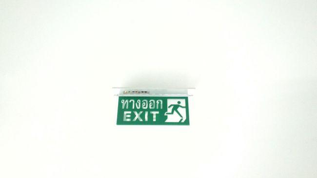 Symbol Exit Sign Thai Indoors  Sign Green Color
