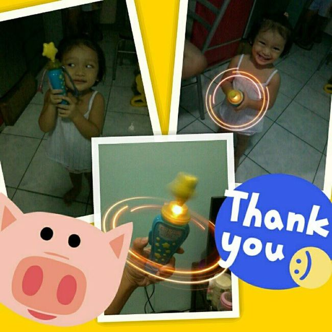 Thank u m'maila! My kid really knows how to appreciate gifts Tuesday HappyAcey Babylove ThanksMaam