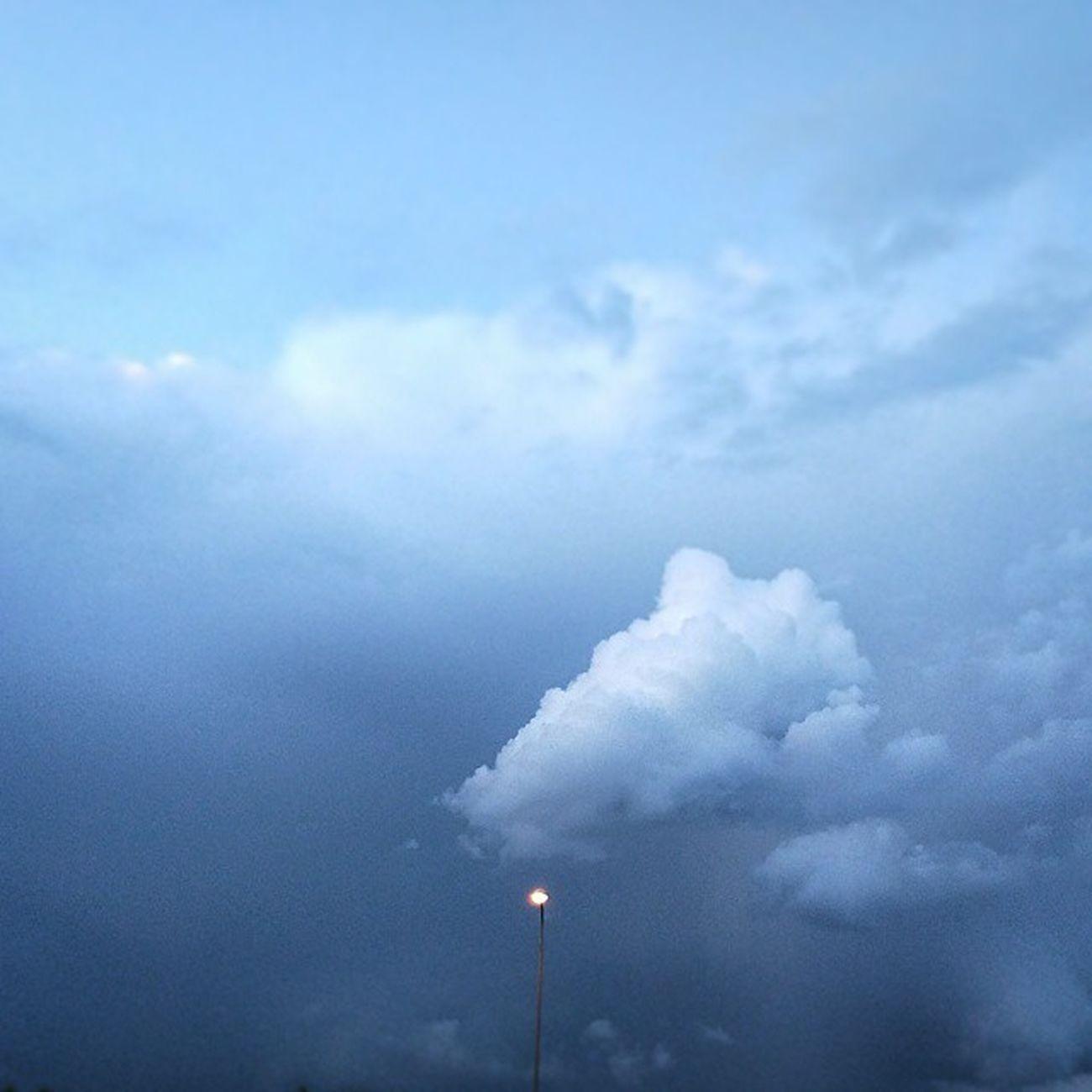 Sky Blue Clouds Stormysky Vilnius Lithuania
