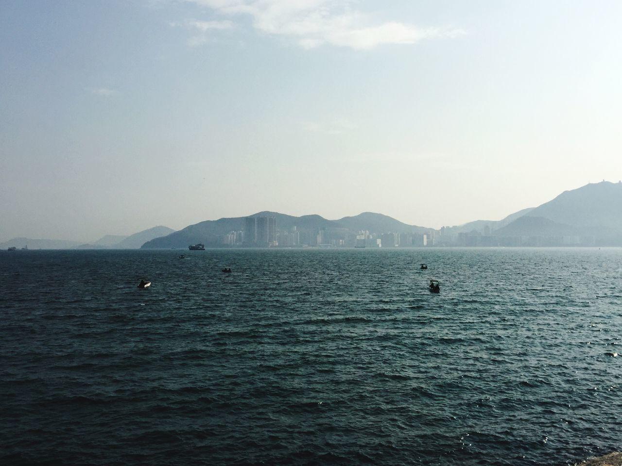 Tseung Kwan O Seaview Serenity Skyline Clear Sky Nobody Moody Sky IPhoneography Hong Kong Sunday EyeEm Nature Lover The Tourist Boat