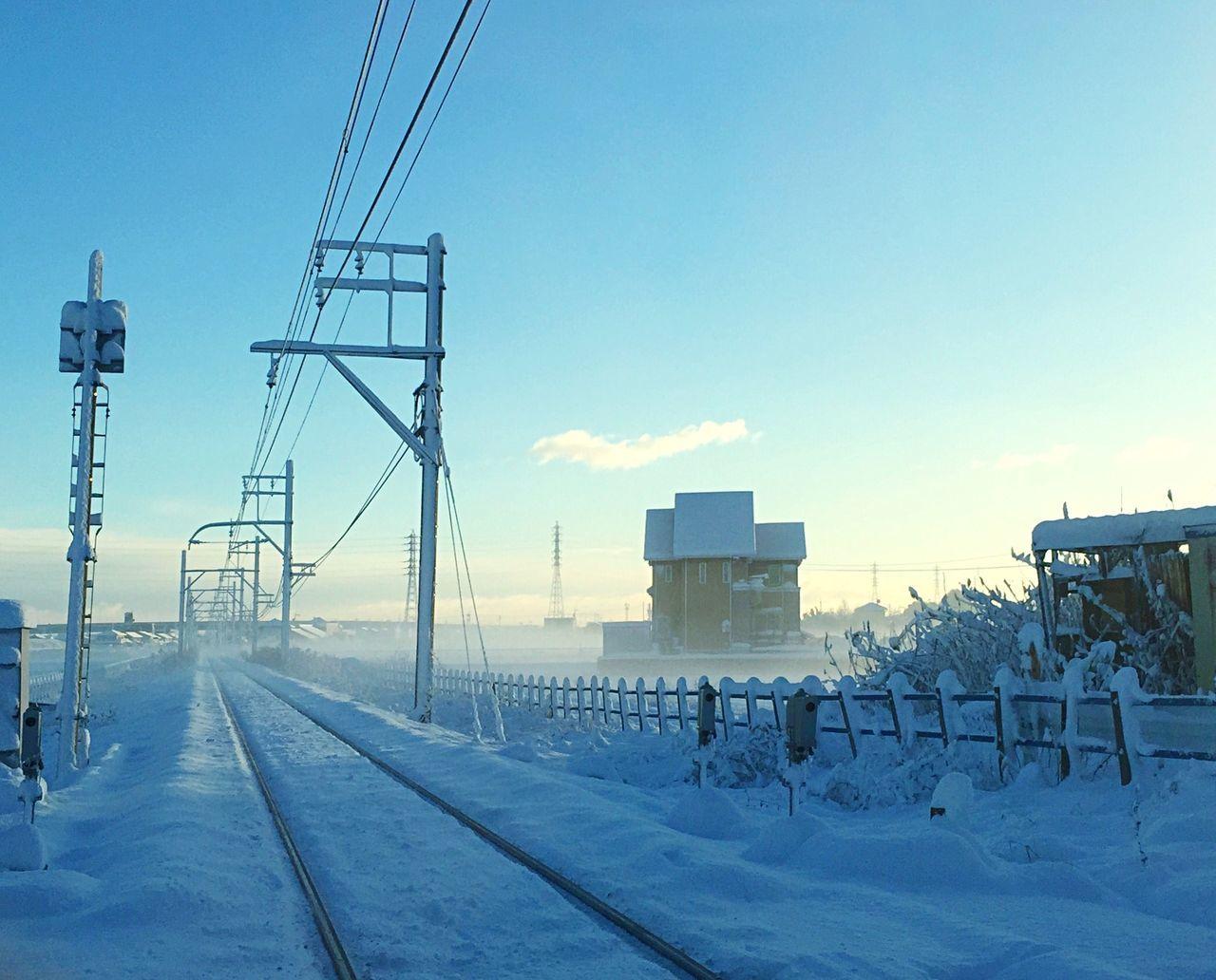 Sky Snow Railway Lines