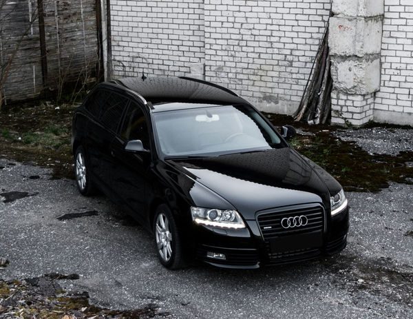 Audi Audi A6 Avant Black Building Exterior Car Day Front View Mode Of Transport No People Outdoors Side View Transportation Vehicle