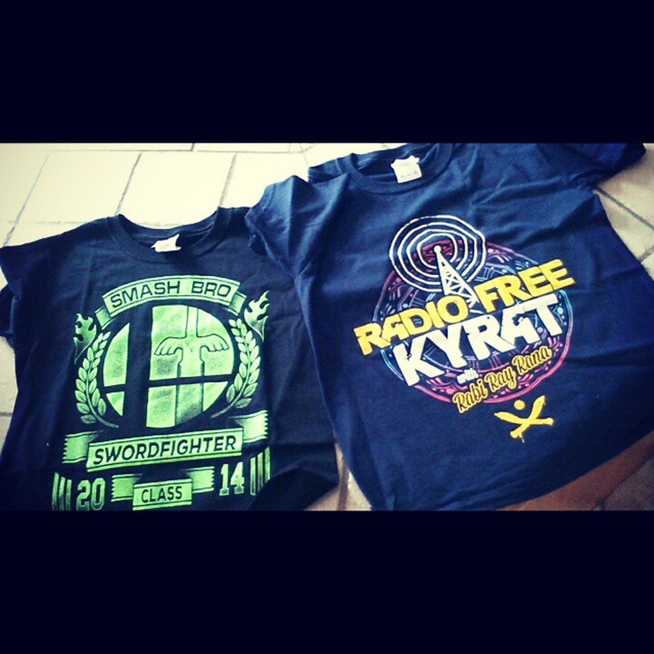 The awesome Shirtpunch tees my minion got in his Arcadeblock Nerdblock
