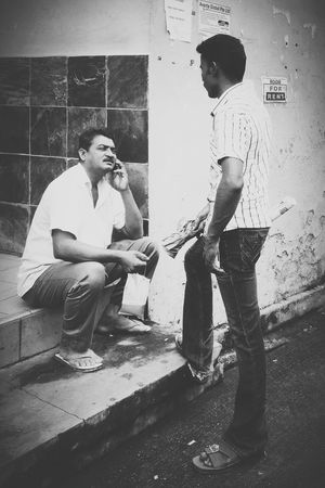 Multi-conversation Blackandwhite Streetphotography Singapore Singapore EyeEm Little India Meetup