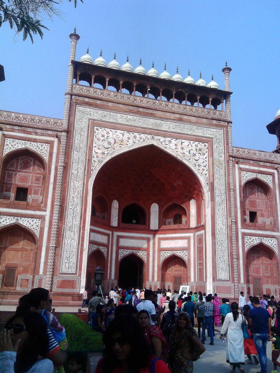 Exterior Of Buland Darwaza Against Clear Sky
