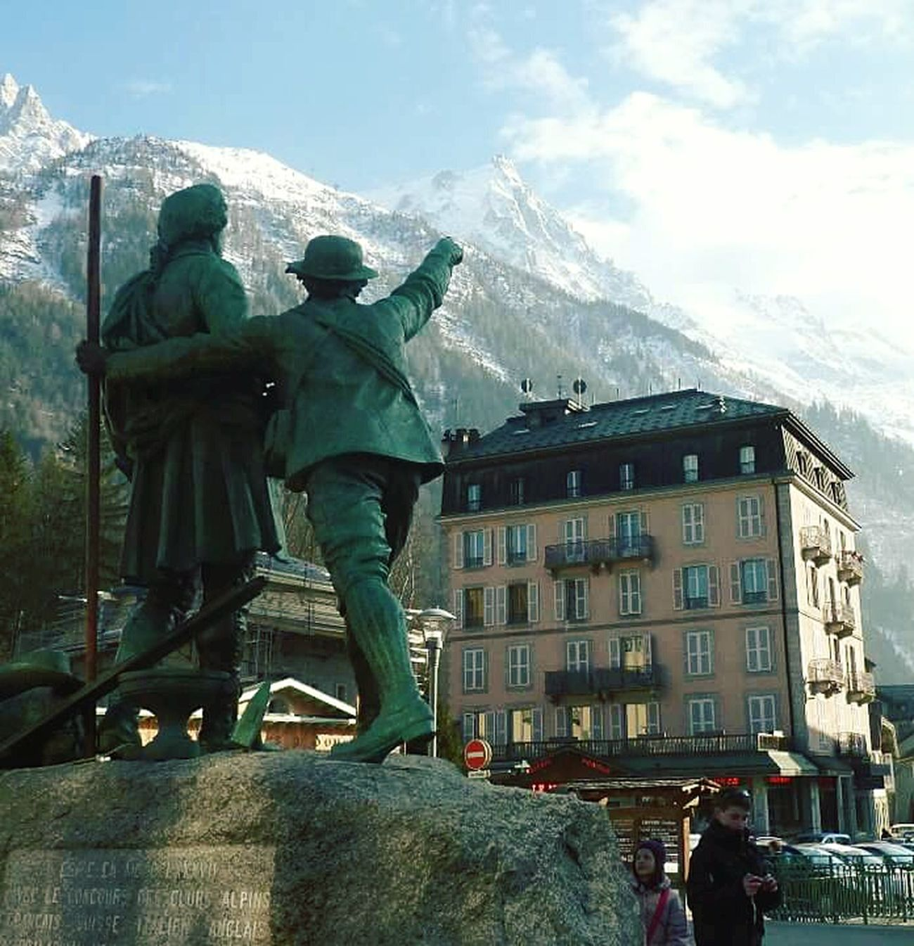 Chamonix-Mont-Blanc Look At This Moutains French Alps My Country In A Photo Street Sculpture Expressive Sculpture Chamonix Mountain Climbing