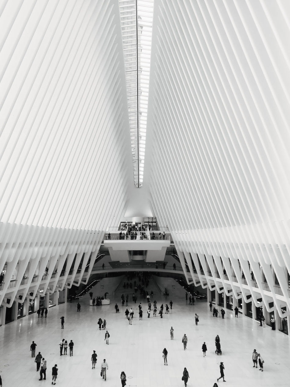 A classic shot when I took my P9 to New York last year! - Get ready for Round 2 and whole load of madness. Architecture Awesome Blackandwhite Built Structure Check This Out City City Life Cool Explore Exploring HuaweiP9 Indoors  Large Group Of People Lines Modern New York New York City People Taking Photos Taking Pictures Travel Travel Destinations
