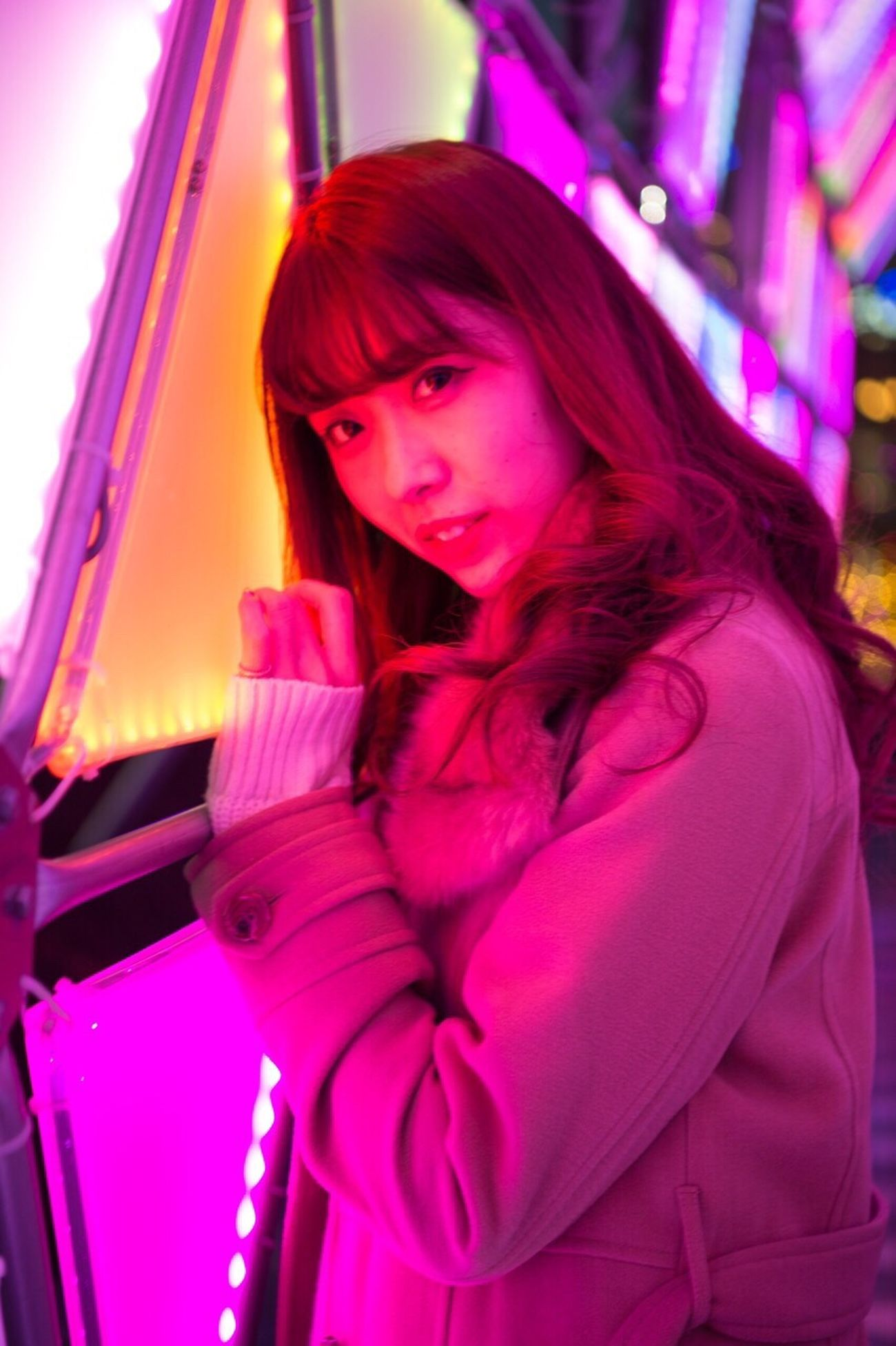 All The Neon Lights LaQua One Wild Night Ctiy Nikon My Winter Favorites Tokyo Japan Cool Japan Freelance Life It's Cold Outside Creative Light And Shadow New Year Around The World Girl Portrait Striking Fashion Model KAWAII Aoi Seeing The Sights