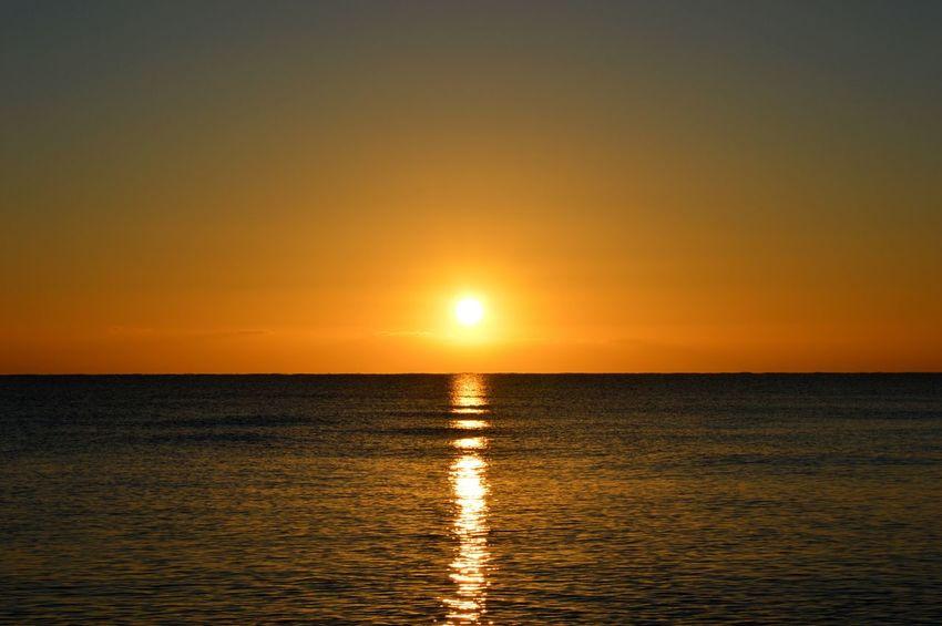 Alba Sole...☀ Sole Soleil☀️ Luce Spiaggia Sea And Sky Cielo Mare Nikonphotography Sardegnanatura Arancione Orange EyeEm Gallery