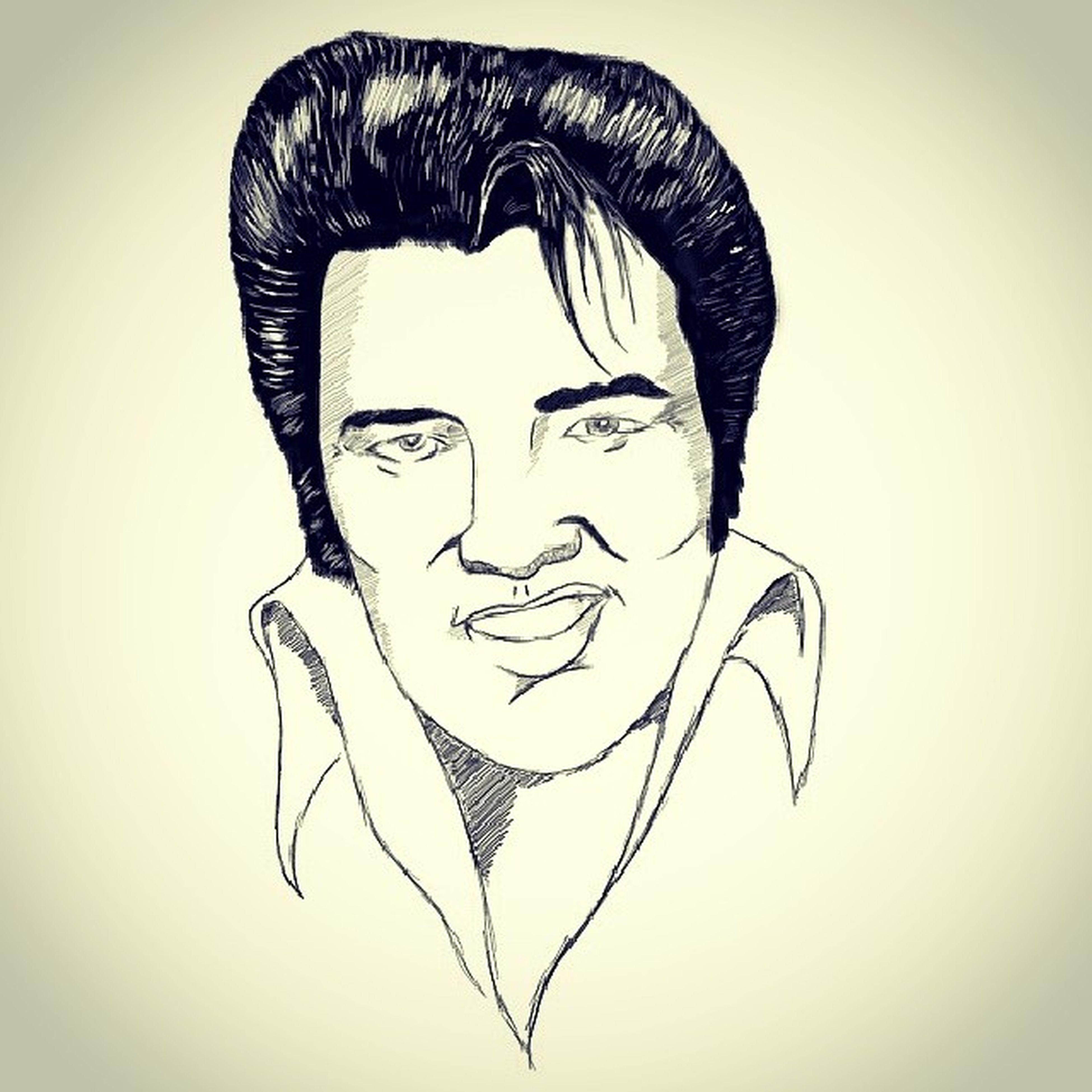 Drawing Elevis Presley Legend artist sketch face draw star usa art