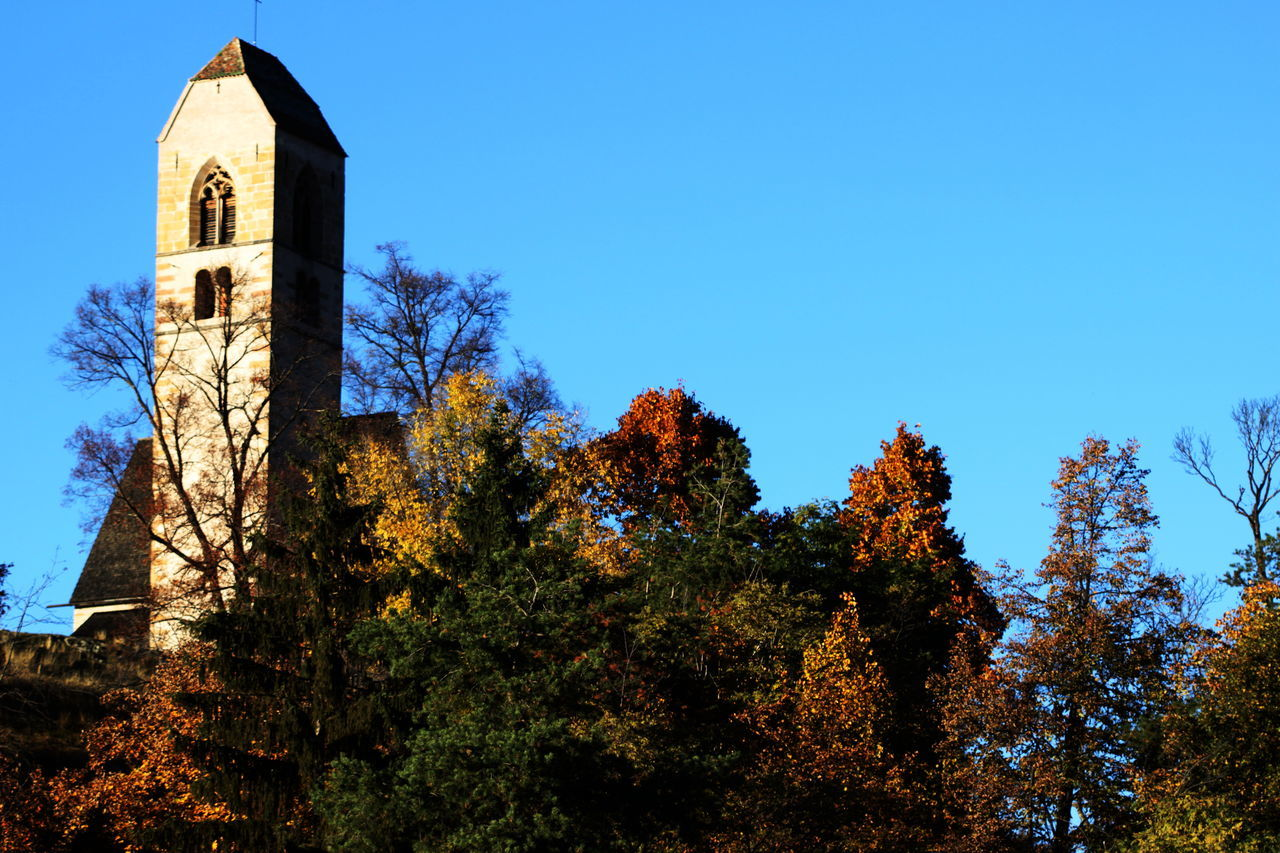 Architecture Autumn 2016 Building Exterior Built Structure Church Church Tower Clear Sky Day Fiè Allo Sciliar Italy Nature No People Outdoors Religion Sky Südtirol Tranquility Trees And Bushes
