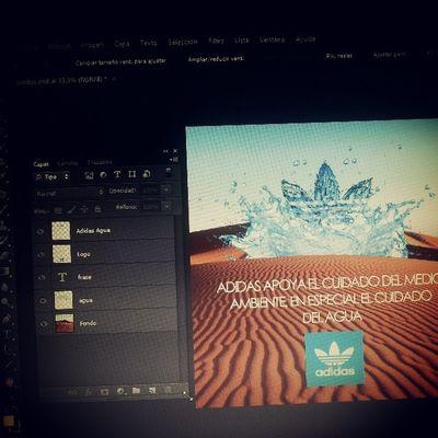 Diseñando un ratito! Dise ño Spotfalso Photoshop Agua
