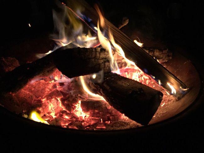 Bonfire Keeping Warm Heat Fire