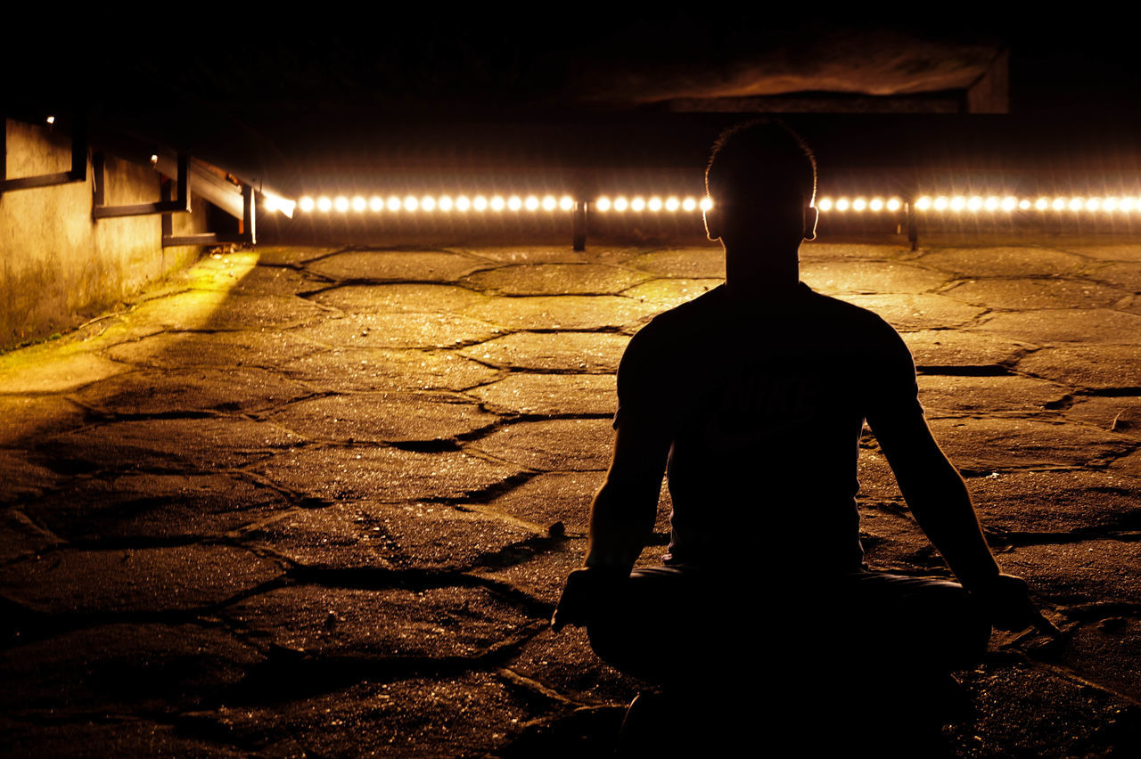 Seeking Peace Meditation Light And Shadow Night Photography with @Sony_a58