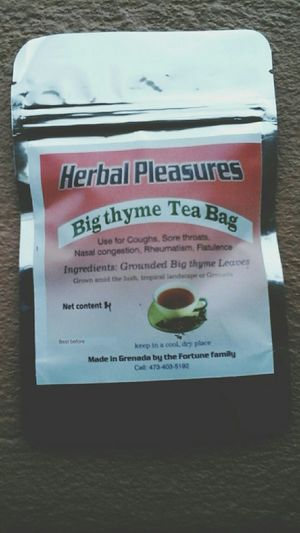 Started my own business. Herbal Pleasures Taking over Lipton. Yes, my tea can do that. The Caribbean