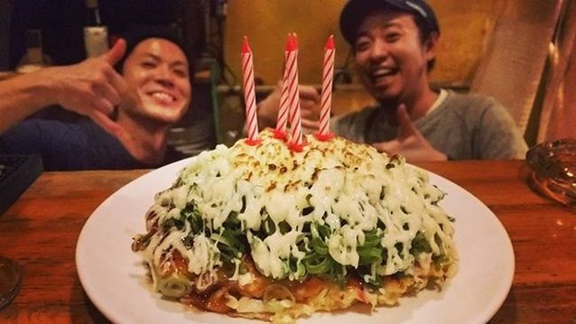49歳になったおっさんの誕生日記録 夢だったBirthdayお好み。 My49thBirthdayTravellingRecord The Birthday Okonomi-yaki. This has been my dream.