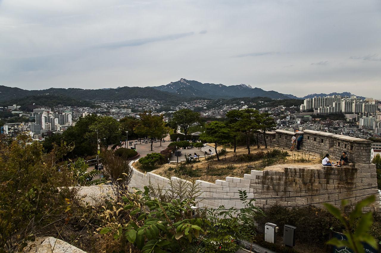 Namsan Park Hanyang Protection Wall Wall Haewhadong Seoul Korea