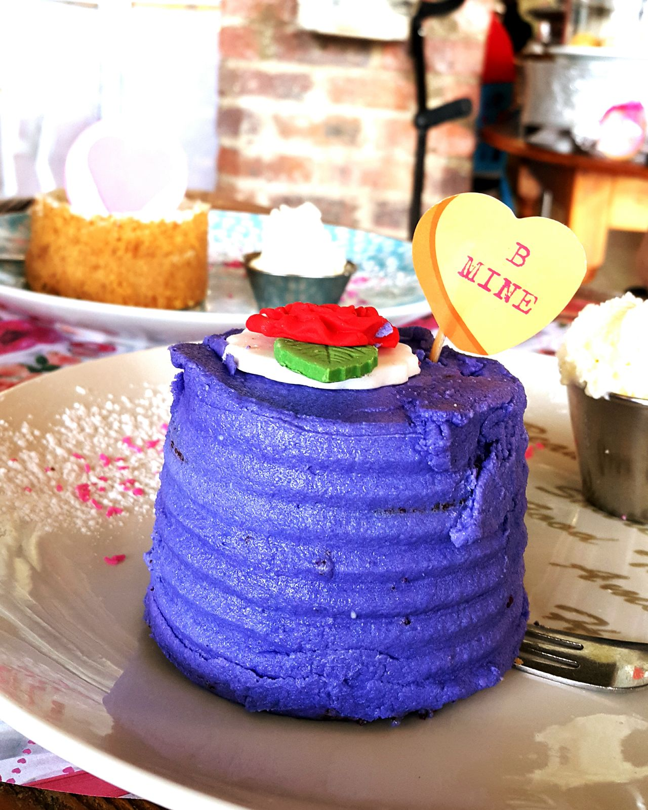 Valentines Day Cake Purple Be Mine