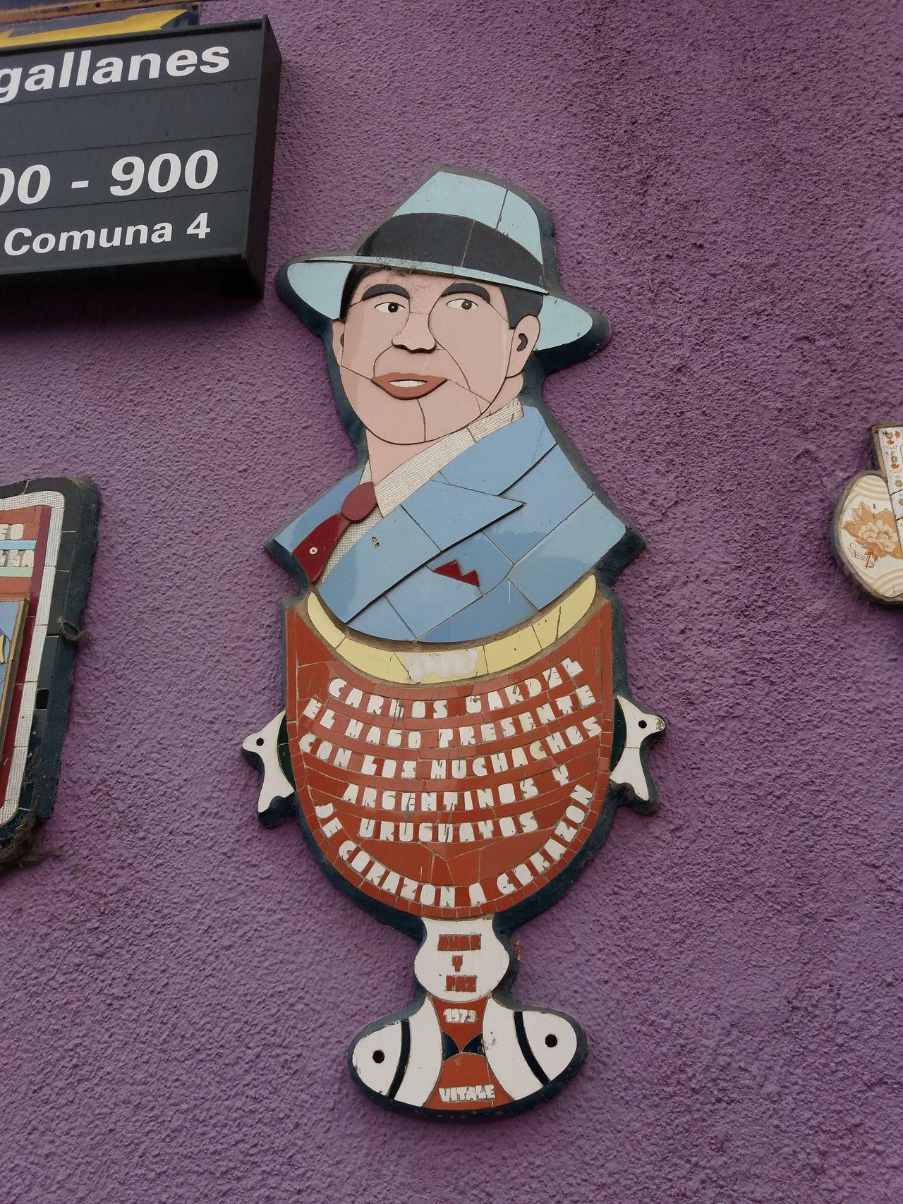 Carlos Gardel Tribute Carlos Gardel Tango Dance Argentina Buenos Aires ,Caminito,La Boca,Buenos Aires,Argentina