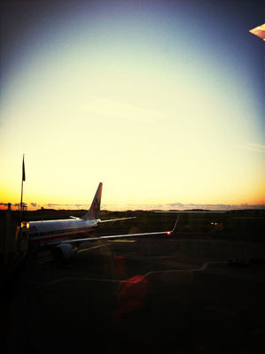 Checking in at Terminal B - Boston Logan International Airport (BOS) by Brendon Volpe