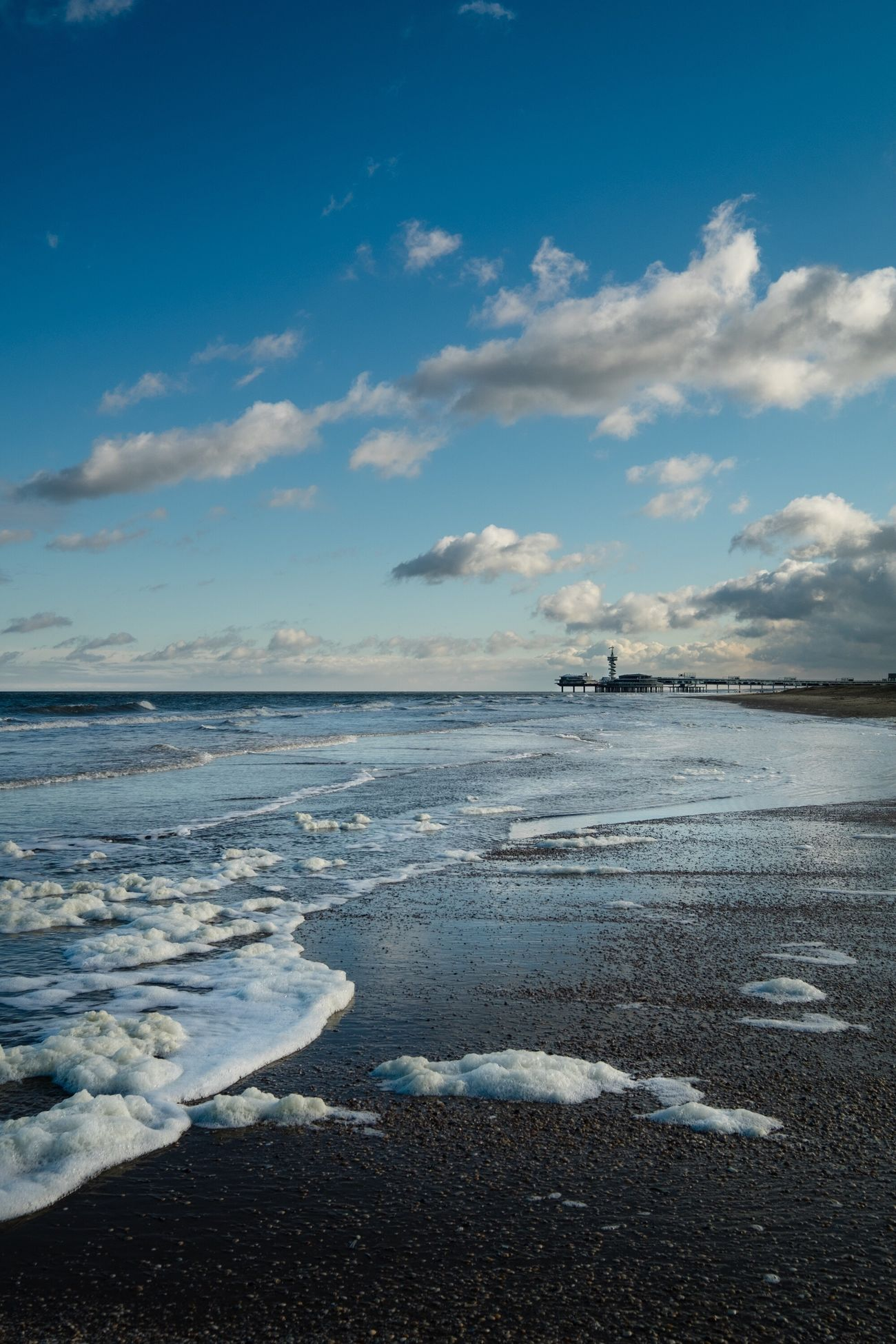 On the North Sea, the Netherlands Water Sea Tranquil Scene Scenics Tranquility Sky Beauty In Nature Beach Cloud Nature Seascape Blue Calm Idyllic Cloud - Sky Majestic Shore Coastline Wave Ocean EyeEm Best Shots Fujifilm_xseries The Netherlands Landscape Holiday