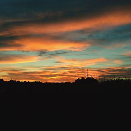 Sunset Sky Orange Yellow Endoftheday Go Blue Awesome Beautiful