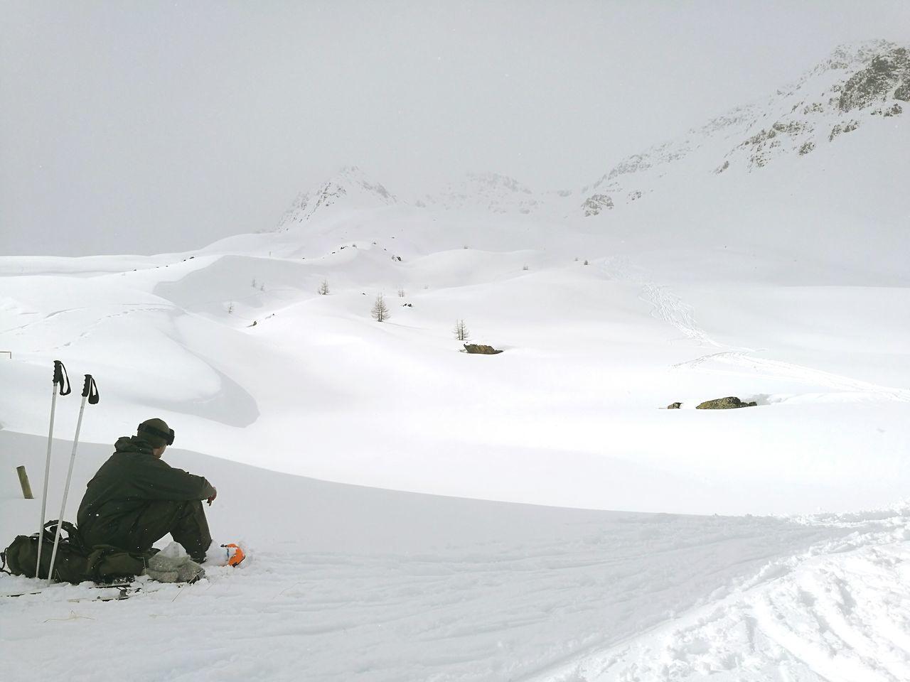 Snow Mountain Cold Temperature Outdoors Nature One Person Beauty In Nature Winter Wonderland Winter Österreich Landscape Mountain View Galtür Skitouring Friedrichshafener Hütte Army Life Bundesheer