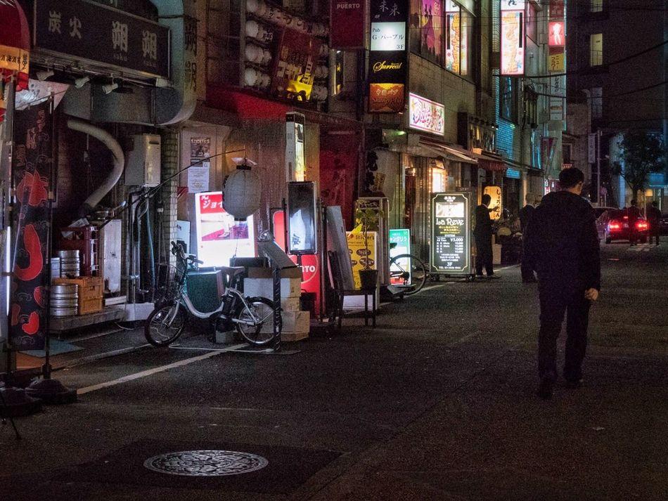Night City Illuminated Street City Life One Man Only One Person People Snapshot CityWalk On The Road Streetphotography City Life Nightphotography Night Lights Gotanda 五反田 , Tokyo Japan