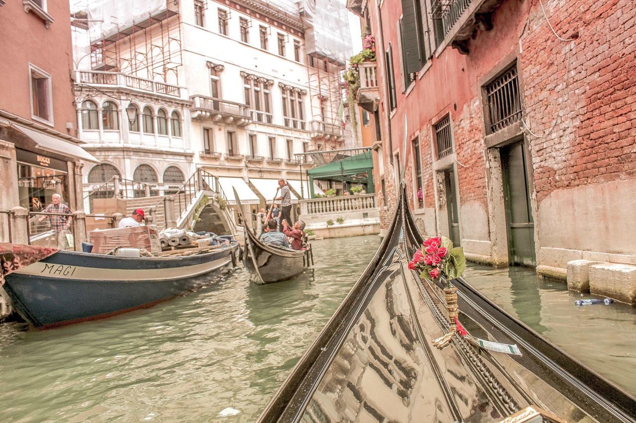 View of the gondola, The Romantic City on water, Venice #gondola #river #Venice #Venezia #Italy #Italia #Europe Culture Travel View Warm Water