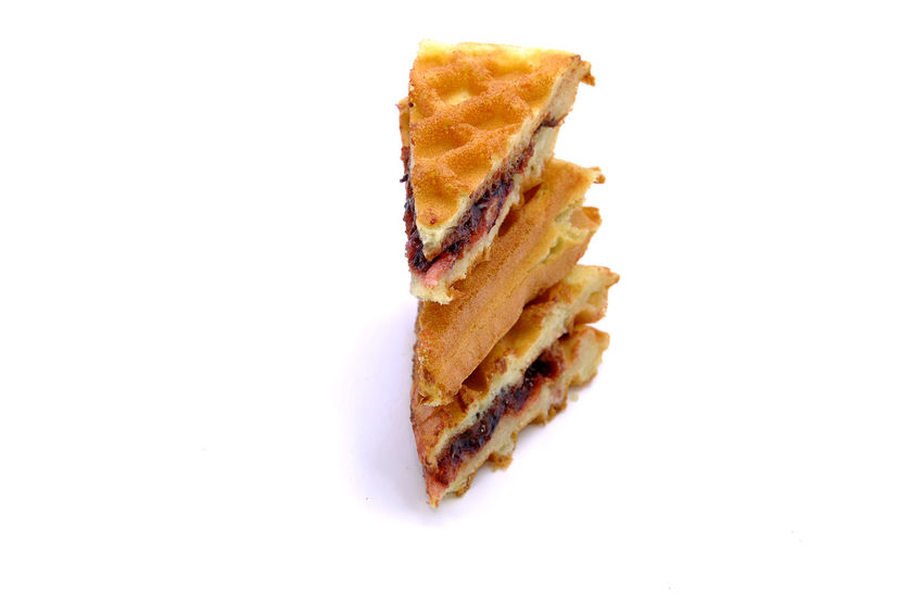 Waffles Over White Background Baked Bakery Belgian  Breakfast Butter Cake Chocolate Cookies Cream Cuisine Dessert Morning Meal Pancakes Pastry Snack Sweet Tasty Wafer Waffle