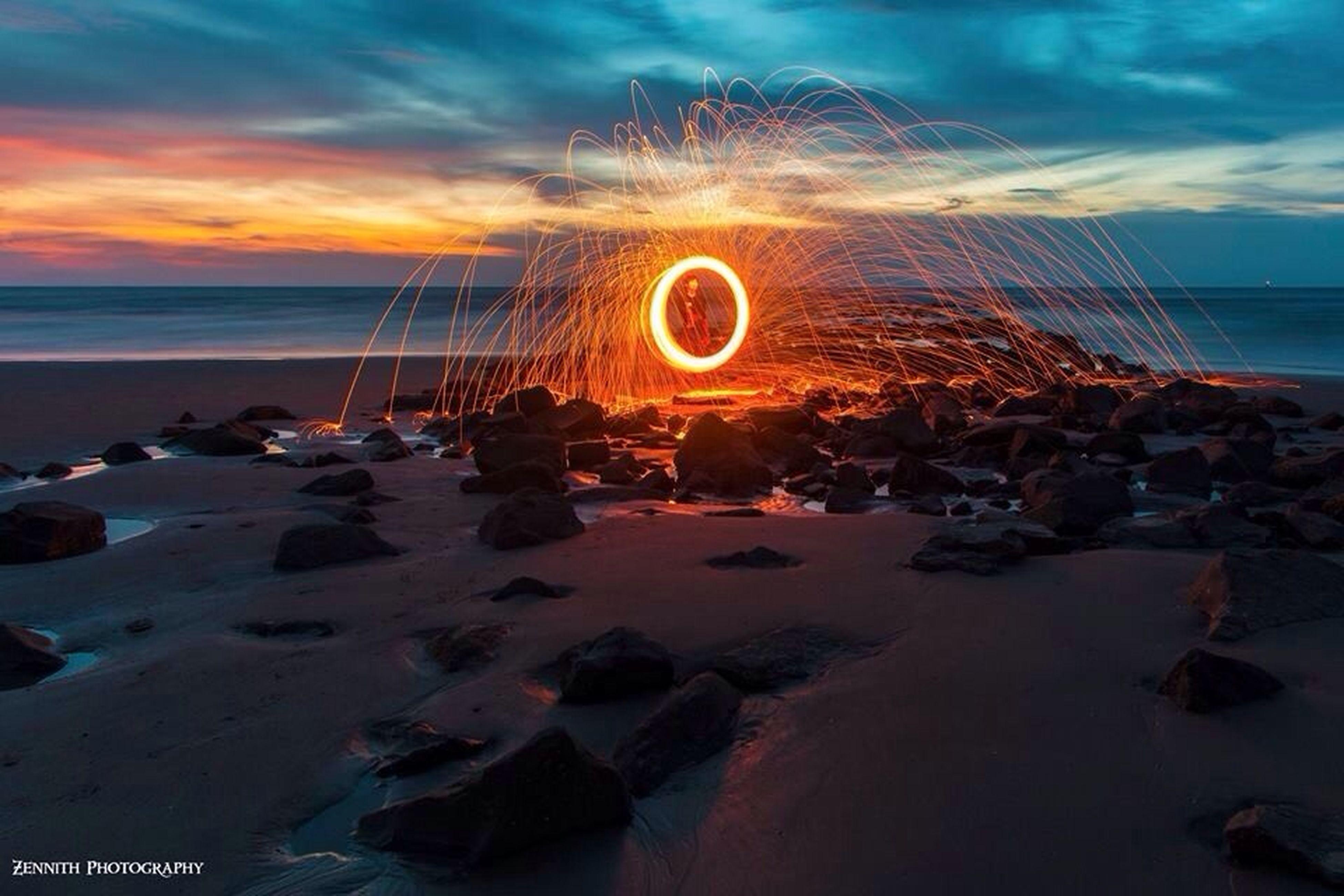 sea, beach, sunset, water, sky, horizon over water, shore, scenics, beauty in nature, sand, tranquil scene, cloud - sky, tranquility, nature, idyllic, sun, orange color, wave, cloud, coastline