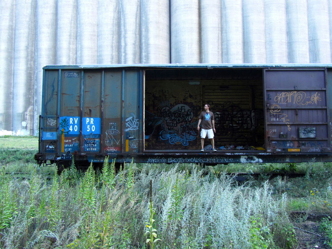 Abadoned Art Art And Craft Bad Condition Broken Container Creativity Day Deterioration Full Frame Graffiti Messy Multi Colored No People Obsolete Safety Text Train Wall Wall - Building Feature Western Script