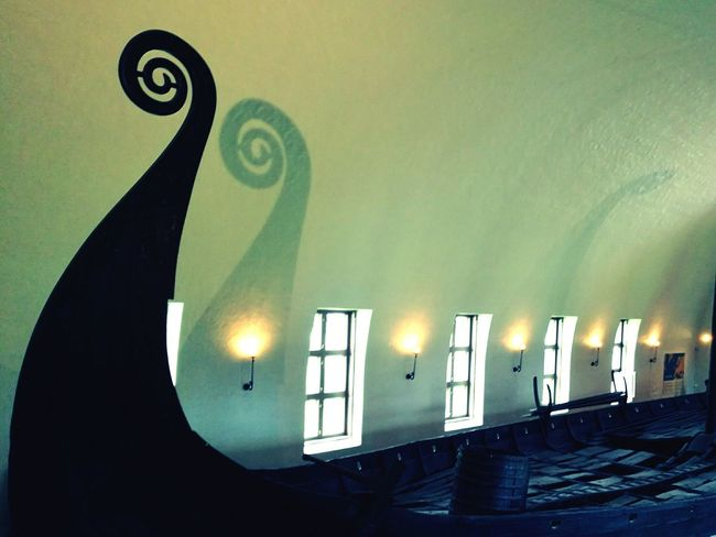 Viking Ship Shadow Blue Lights Lights And Shadows Windows Fine Art Photography