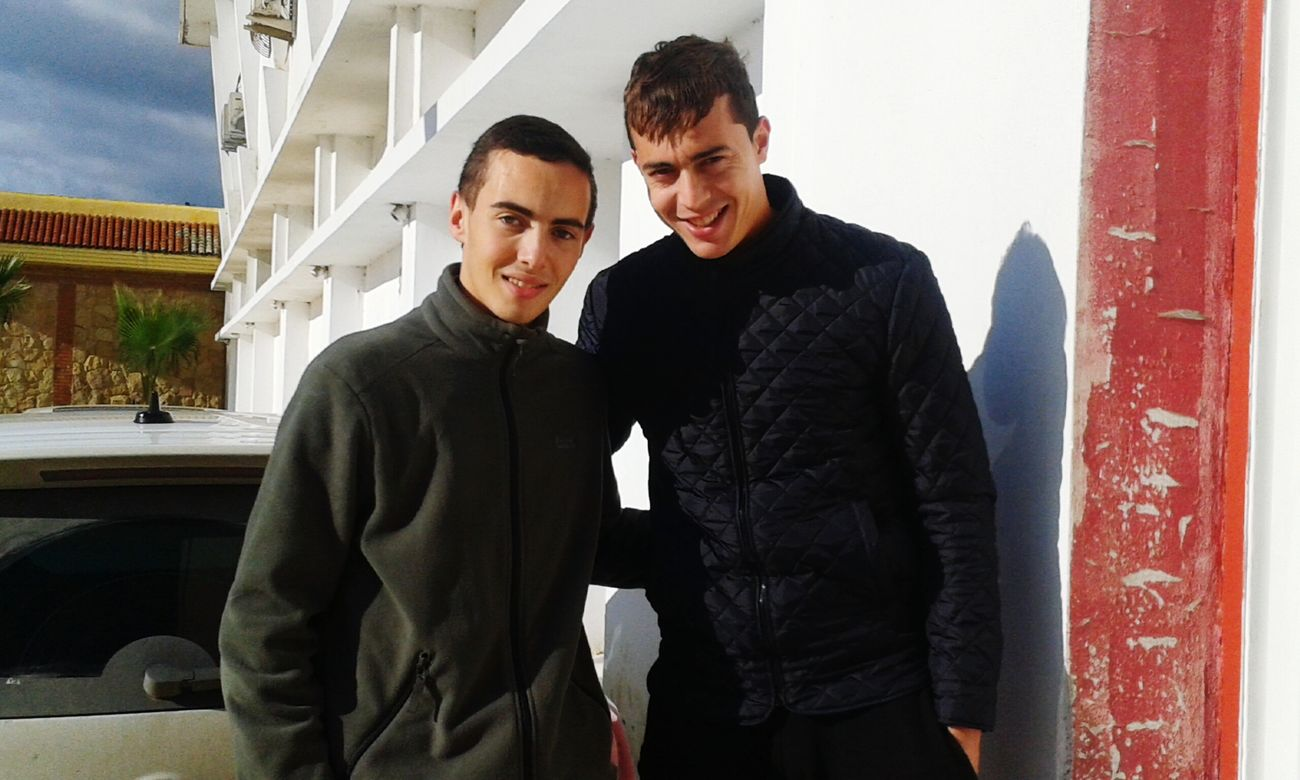Hi! That's Me With goalkeeper of club Maghrib Atlantique Tetouan . The best goalkeeper in champion of Morocco 2013/2014 1st