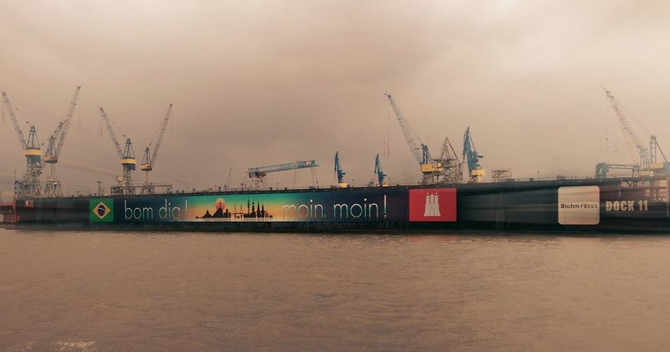 Hamburg Harbour Industry Transportation Shipping  No People Cloud - Sky Outdoors Water Harbor Hafen Hamburch Blohm+Voss Dock 11