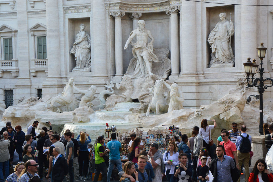 Adult Architecture City Day Fontana Di Trevi Fontana Di Trevi Rome Fountain_collection Italy Holidays Large Group Of People Men Outdoors Roma Roma ! Rome Rome Through My Eyes Sculpture Statue Tourism Tourist Tourists Travel Destinations Trevi Trevi Fountain TreviFountain Women