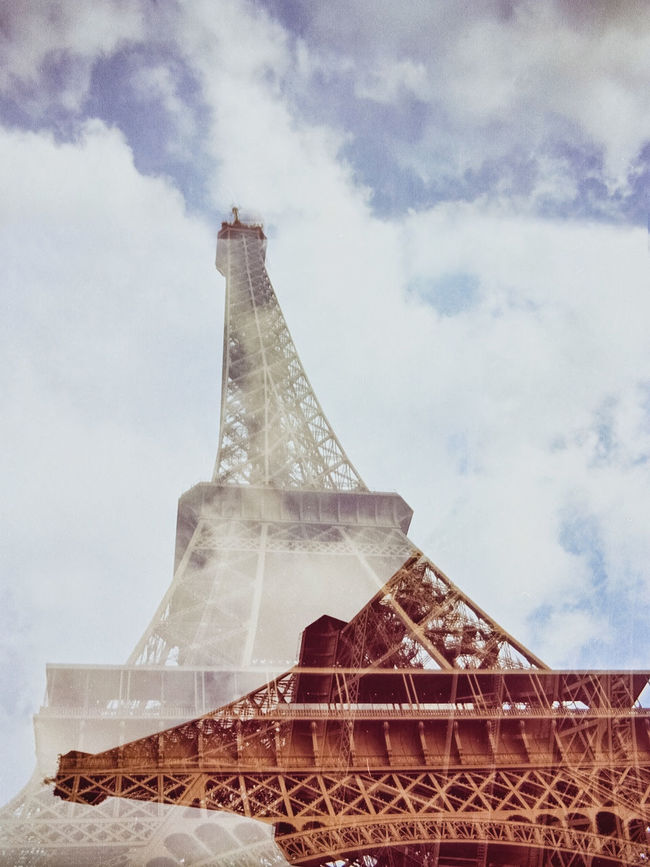 35 Mm Film Look 35film 35mm Film Architecture Eiffel Tower Famous Place International Landmark Tall - High Tour Eiffel Tower