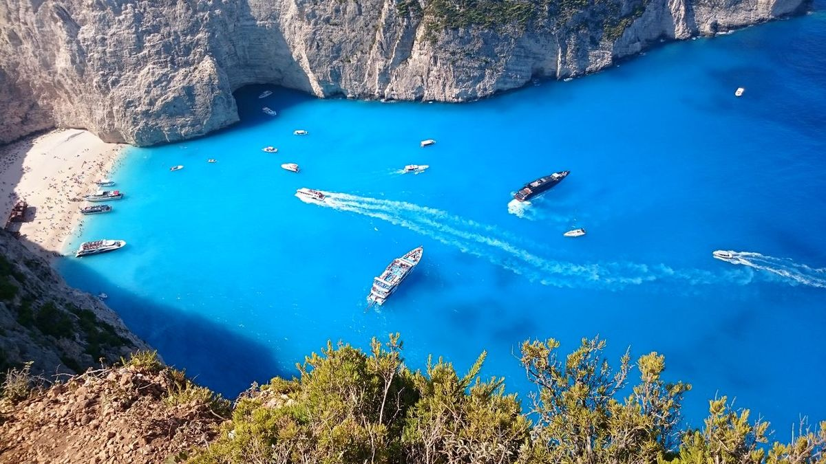 Zakynthos,Greece 2015  Enjoying Life View From The Top Real Photo No Effects Needed For Nature
