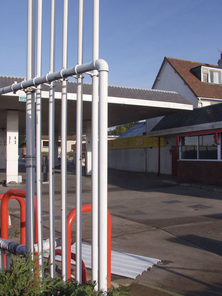 Architecture Bromsgrove Building Exterior Built Structure Clear Sky Closed Down Day England No People Outdoors Petrol Station Pipes Metallic Sky Worcestershire