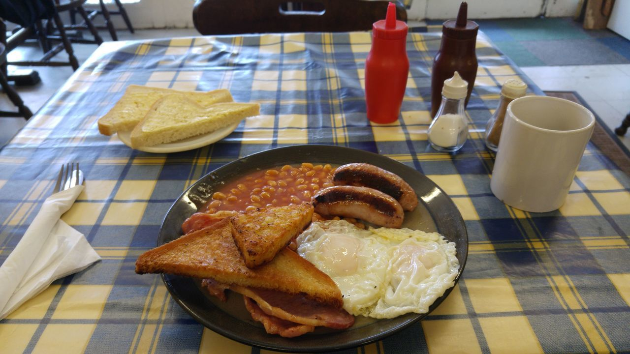 Breakfast Close-up Coffee Day English Breakfast Fast Food Food French Fries Freshness Fry Up Indulgence Meal No People Plate Ready-to-eat Served Serving Size Snack Still Life Tablecloth Tea Temptation