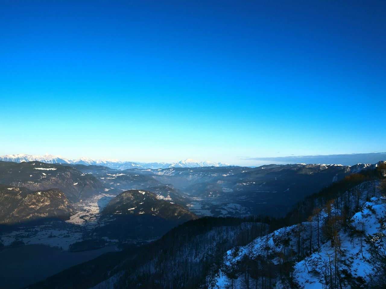 Blue Nature Sky Clear Sky Beauty In Nature Cold Temperature Winter No People Mountain Slovenia Vogel Bohinj, Slovenia